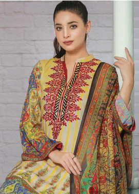 Creaze Embroidered Linen Unstitched 3 Piece Suit CRE19W 19537 - Winter Collection