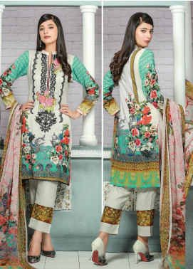 Creaze Embroidered Linen Unstitched 3 Piece Suit CRE19W 19538 - Winter Collection
