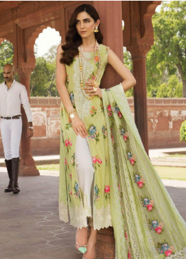 Crimson Embroidered Lawn Unstitched 3 Piece Suit CRM19F 1A LACEY SUMMER - Festive Collection