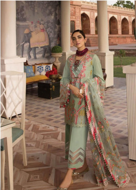 Crimson Embroidered Lawn Unstitched 3 Piece Suit CRM19F 7B ARTISANS OF THE SUBCONTINENT - Festive Collection