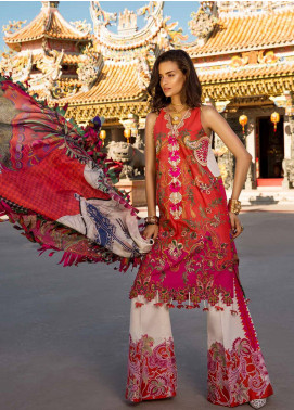 Crimson Embroidered Lawn Unstitched 3 Piece Suit CRM19L 5A - Spring / Summer Collection