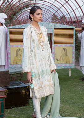 Crimson Embroidered Karandi Unstitched 3 Piece Suit CR18W 6A Chawal Tanka - Mint - Winter Luxury Collection