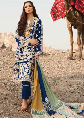 Musafir by Crimson Embroidered Unstitched 3 Piece Suit CR20MF 3-A - Winter Collection