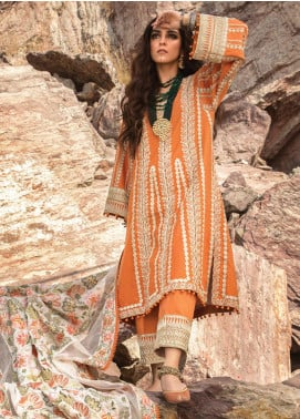 Musafir by Crimson Embroidered Unstitched 3 Piece Suit CR20MF 6-A - Winter Collection