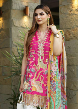 Crimson Embroidered Lawn Unstitched 3 Piece Suit CRM19L 2A - Spring / Summer Collection