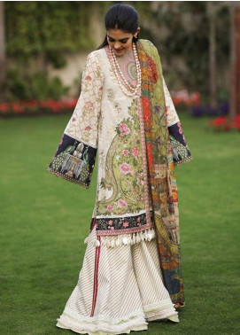 Crimson Embroidered Lawn Unstitched 3 Piece Suit CRM19L 3A - Spring / Summer Collection
