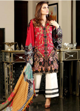 Crimson Embroidered Lawn Unstitched 3 Piece Suit CRM19L 5B - Spring / Summer Collection