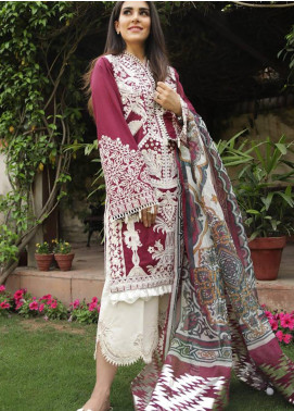 Crimson Embroidered Lawn Unstitched 3 Piece Suit CRM19L 7B - Spring / Summer Collection