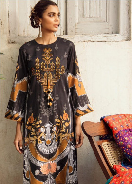 Cross Stitch Embroidered Cotton Satin Unstitched 2 Piece Suit CS19CS 13 Onyx Tribe - Formal Collection