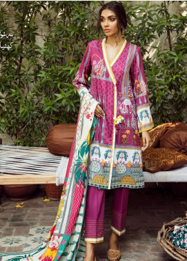 Cross Stitch Embroidered Cotton Satin Unstitched 3 Piece Suit CS19CS 15 Persian Sage - Formal Collection