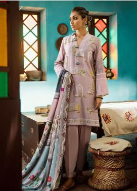 Cross Stitch Embroidered Cotton Satin Unstitched 3 Piece Suit CS19CS 17 Rose Villa - Formal Collection