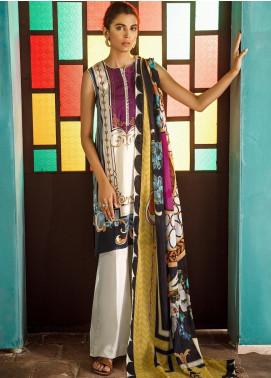 Cross Stitch Embroidered Cotton Satin Unstitched 3 Piece Suit CS19CS 2 Baton Rouge - Formal Collection