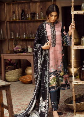 Cross Stitch Embroidered Cotton Satin Unstitched 3 Piece Suit CS19CS 22 Shehr-e-Gul - Formal Collection