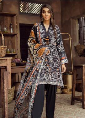Cross Stitch Embroidered Cotton Satin Unstitched 3 Piece Suit CS19CS 23 Trellis Ebony - Formal Collection