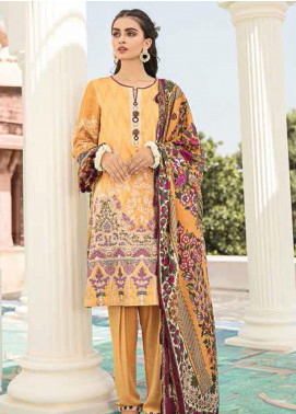 Dastaan by Cross Stitch Embroidered Linen Unstitched 3 Piece Suit CS20D 10 SUMMER MIST - Winter Collection
