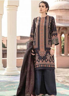 Dastaan by Cross Stitch Embroidered Linen Unstitched 3 Piece Suit CS20D 12 MUGHAL STERLING - Winter Collection