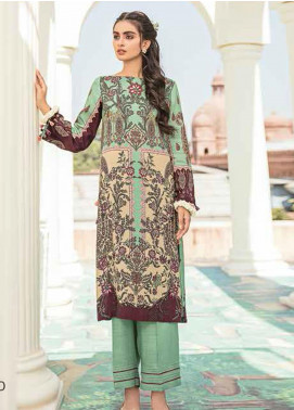 Dastaan by Cross Stitch Embroidered Linen Unstitched 2 Piece Suit CS20D 14 PASTEL CALICO - Winter Collection