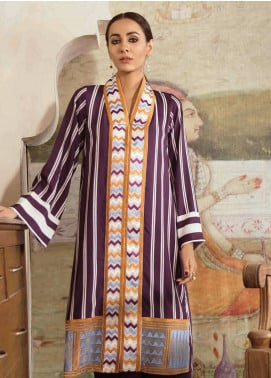 Cross Stitch Embroidered Linen Unstitched 2 Piece Suit CS18WL 13 Linear Hash - Fall Winter Collection