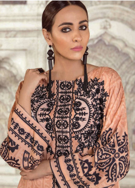 Cross Stitch Embroidered Linen Unstitched 2 Piece Suit CS18WL 8 Rubbicand Brocade - Fall Winter Collection