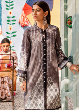 Cross Stitch Embroidered Lawn Unstitched 2 Piece Suit CS19L 13 Frost Gray - Spring / Summer Collection