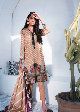Cross Stitch Embroidered Lawn Unstitched 3 Piece Suit CS19-L2 12 OBLIQUE MUSHROOM - Spring / Summer Collection