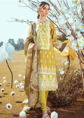 Cross Stitch Embroidered Lawn Unstitched 3 Piece Suit CS20L 01 Antique Tambour - Summer Collection