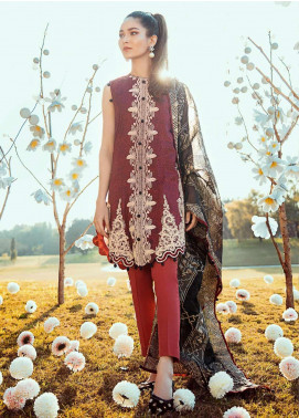 Cross Stitch Embroidered Lawn Unstitched 3 Piece Suit CS20L 03 Bagh e Fajar - Summer Collection