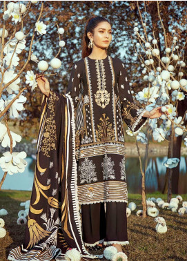 Cross Stitch Embroidered Lawn Unstitched 3 Piece Suit CS20L 07 Charcoal Glint - Summer Collection