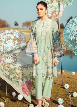 Cross Stitch Embroidered Lawn Unstitched 3 Piece Suit CS20L 13 Hiraeth Dream - Summer Collection