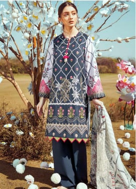 Cross Stitch Embroidered Lawn Unstitched 3 Piece Suit CS20L 16 Legion D masque - Summer Collection