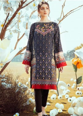 Cross Stitch Embroidered Lawn Unstitched Kurties CS20L 18 Midnight Splendor - Summer Collection