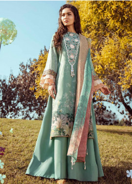 Cross Stitch Embroidered Lawn Unstitched 3 Piece Suit CS20L 19 Mint Orchard - Summer Collection