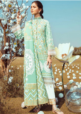 Cross Stitch Embroidered Lawn Unstitched 3 Piece Suit CS20L 21 Opulent Plush - Summer Collection