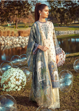 Cross Stitch Embroidered Lawn Unstitched 3 Piece Suit CS20L 23 Porpoise Tale - Summer Collection
