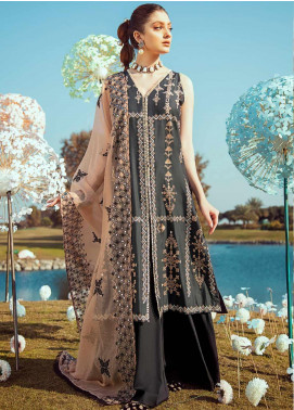 Cross Stitch Embroidered Lawn Unstitched 3 Piece Suit CS20L 26 Russette Ebony - Summer Collection