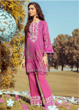 Cross Stitch Embroidered Lawn Unstitched 2 Piece Suit CS20L 28 Shah Nasheen - Summer Collection