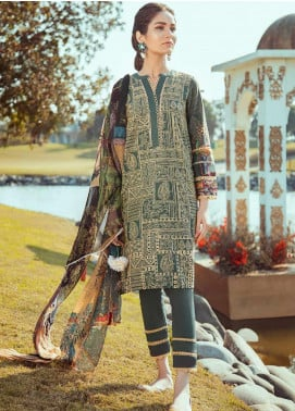 Cross Stitch Embroidered Lawn Unstitched 3 Piece Suit CS20L 30 Zamurd e Bahar - Summer Collection