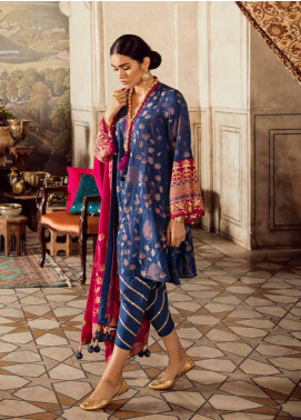 Cross Stitch Embroidered Jacquard Unstitched 3 Piece Suit CS19E 17 TAKHT-E-TAOOS - Eid Collection