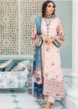 Mehak by Cross Stitch Embroidered Cotton Satin Unstitched 3 Piece Suit CS20M 07 Serenity Rosette - Winter Collection