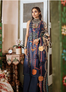Mehak by Cross Stitch Embroidered Cotton Satin Unstitched 3 Piece Suit CS20M 09 Cashmere Impress - Winter Collection