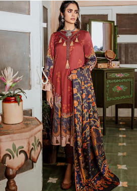Mehak by Cross Stitch Embroidered Cotton Satin Unstitched 3 Piece Suit CS20M 12 French Glow - Winter Collection