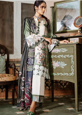 Mehak by Cross Stitch Embroidered Cotton Satin Unstitched 3 Piece Suit CS20M 17 Tribal Gaze - Winter Collection