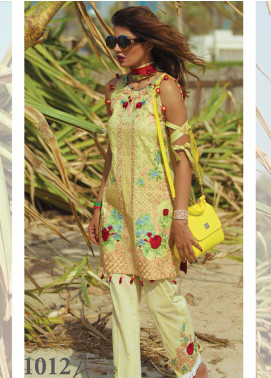 Rang Rasiya Carnation Embroidered Lawn Unstitched 3 Piece Suit CRR18L 1012A - Spring / Summer Collection