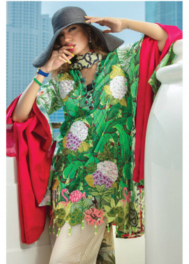 Rang Rasiya Carnation Embroidered Lawn Unstitched 3 Piece Suit CRR18L 1017 - Spring / Summer Collection