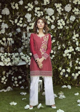Anahi by Gulaal Embroidered Lawn Stitched Kurtis GLP17K 12B