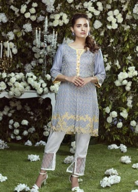 Anahi by Gulaal Embroidered Cotton Net Stitched Kurtis GLP17K 3B