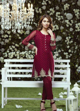 Anahi by Gulaal Embroidered Chiffon Stitched Kurtis GLP17K 7A
