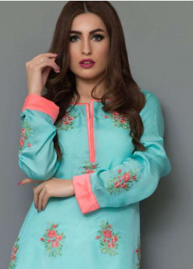 Panache Embroidered Charmeuse Unstitched Kurties PN18V 11 - Spring Collection