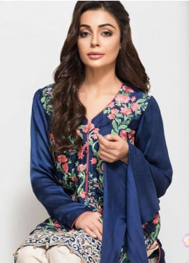 Panache Embroidered Charmeuse Unstitched Kurties PN18V 04 - Spring Collection