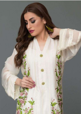 Panache Embroidered Charmeuse Unstitched Kurties PN18V 08 - Spring Collection